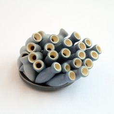 Peter Hoogeboom, North Sea, brooch, fused ceramics, silver, 2011