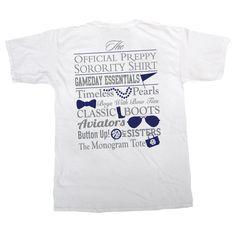 Kappa Alpha Theta Preppy Game Day Shirt by GreekGraffitiDorm on Etsy
