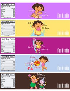 Personalized Dora the explorer Birthday party   Water