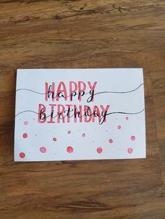 diy birthday cards for grandma Handlettered happy birthday card. Birthday Card Puns, Best Friend Birthday Cards, Happy Birthday Cards Handmade, Creative Birthday Cards, Cute Happy Birthday, Simple Birthday Cards, Homemade Birthday Cards, Girl Birthday Cards, Birthday Cards For Boyfriend