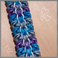 """This is a hooked design. No loom needed.  *Zuzu*  New """"Fieldstone""""  Bracelet/How To Tutorial"""