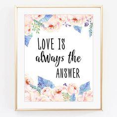 Love print Inspirational quote Watercolour от WallArt2Decor