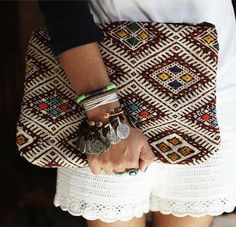 lallykings: somerollingstone: Pochette Tamahaq by Bakchic #boho #bag