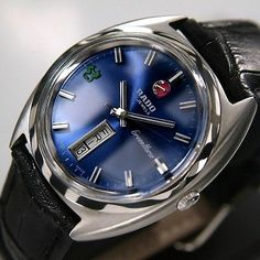 Rado Green Horse Mens AUTOMATIC 30 JEWELS Day Date Blue Dial SWISS MADE Watch