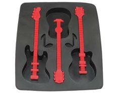Eiswürfelform Gitarre rot Schwarz Cool Guitar Eiswürfel Instrument Eiswürfelbereiter Eiswürfel am St -- auf MeinPaket.de