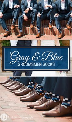 Blue is a popular wedding color rooted in deep tradition and meaning, but there is certainly an opportunity to add some style and creativity to a long-standing wedding option. Consider dressing your groomsmen in blue checkered socks to match blue or gray bridesmaid's dresses and give your wedding party a bold flavor. Shop our great selection of groomsmen dress socks. Photography by http://leahbarryphotography.com/