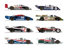 Vector illustrations of the old IMSA Camel GT Series in the 80's and 90's, something I did for fun a while back. Decided to post as a rebound after I saw @Brandon Moore's shot.