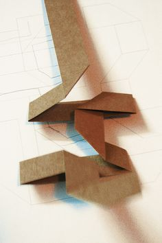 Origami Font by Guan Pucha, via Behance - outsiders, process exposed