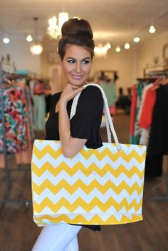Dottie Couture Boutique - Beach Tote- Yellow, $22.00 (http://www.dottiecouture.com/beach-tote-yellow/)