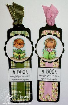 Hacer marcadores de libros para felicitarlos por hacer cosas :)