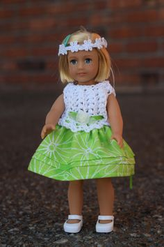 Hey, I found this really awesome Etsy listing at https://www.etsy.com/listing/387535034/mini-american-girl-crocheted-dress-with