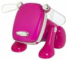 Pink - Hasbro i-Dog Robotic Music Loving Canine by Hasbro. $13.99. Optional iDog clothes available as Hasbro Dogwear. Meet i-Dog - the little dog with big sound. Just plug him into your music player, and he plays your music through his built-in speaker or your headphones - and rocks out! Wanna dance with i-Dog' Try placing him near a speaker and dance along as he grooves to the beat. i-Dog even changes his mood to suit your music. Simply play something new and he'll entertain ...
