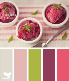 design seeds color scheme strawberry sorbet with mint