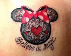 Minnie Mouse.  Tattoo