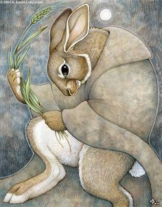 I like the face of the rabbit in this one.  Rabbit Moon by ~kyoht on deviantART