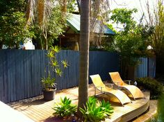 dudley pool deck Pool Waterfall, Pool Accessories, Outdoor Furniture, Outdoor Decor, Sun Lounger, Fence, Yard, Patio, House