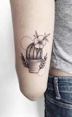 Mini Tattoos, Body Art Tattoos, Small Tattoos, Cool Tattoos, Tatoos, Cactus Tattoo Small, Arizona Tattoo, Kaktus Tattoo, Succulent Tattoo