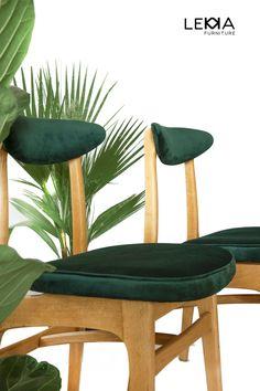 Hałas. Chair. Krzesło PRL. Redesigned by Lekka Furniture. Plants. Rośliny.