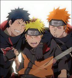 Obito, Naruto and Pain