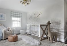 Wallpapered Nursery Accent Wall - Design photos, ideas and inspiration. Amazing gallery of interior design and decorating ideas of Wallpapered Nursery Accent Wall in nurseries by elite interior designers. Baby Bedroom, Nursery Room, Boy Room, Nursery Decor, Toddler Quilt, Toddler Bed, Blue Crib, Restoration Hardware Baby, Nursery Inspiration