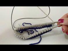 (704) Aprende a tejer con circulares: elástico doble o reversible - YouTube