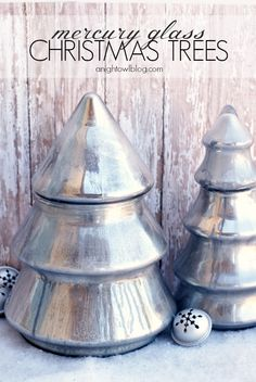 Silver and gold are classic accent colors for decor during the holiday season. Update your space with these stunning DIY mercury glass Christmas trees to give your home a festive feel.