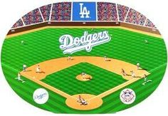 LOS ANGELES DODGERS Set of 4 Placemats new in package