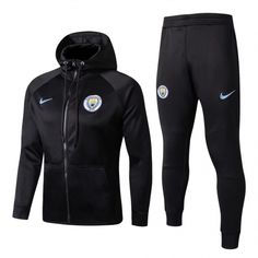 Manchester City Black Soccer Jacket Uniform With Hat Club Football, Milan Football, Football Shirts, Manchester City, Nike Outfits, Sport Outfits, Tomboy Outfits, Tottenham Hotspur, Freshman Outfits