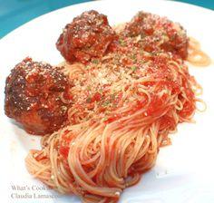 Grandma's Favorite Marinara, Angel Hair and Fried Meatball Recipe