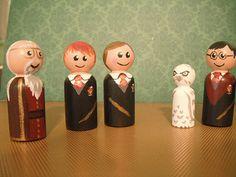 Harry Potter Peg Dolls.