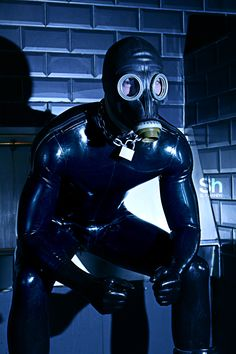Fetish hood leather rubber