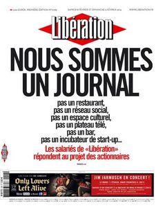 """NOUS SOMMES UN JOURNAL"""" - la une de Libé ce week-end"""