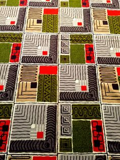 George Jetson Atomic Eames Era Barkcloth// MCM Retro Abstract Geometric Design// Cotton Yardage// Upholstery// Drapery// New Old Stock// BTY