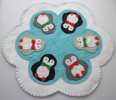 (9) Name: 'Sewing : Penguin Penny Rug Pattern