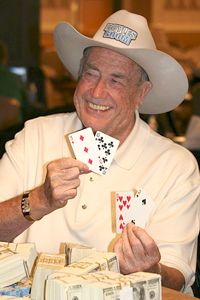 1976, 1977 WSOP — Doyle Brunson  http://learnpokerpro.com/the-10-greatest-moments-in-world-series-of-poker-history/