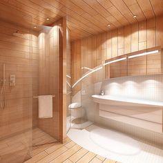Dusche, WC,  Waschbecken im Hanggeschoss