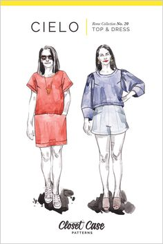 Cielo Top & Dress Pattern - PDF Download | Closet Case Patterns