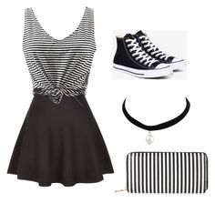 """""""Sem título #60"""" by sarahbonizi on Polyvore featuring New Look e Converse"""