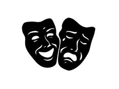 AmazonSmile - Comedy Tragedy Theater Mask Art Wall Decal Sticker - Decorative Wall Appliques