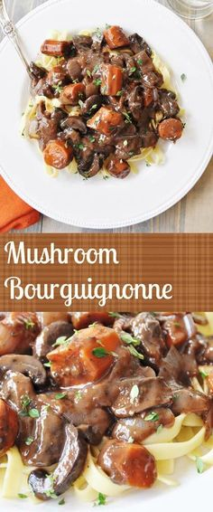 Rich, full bodied, delicious, Vegan mushroom ourguignonne. This is the perfect fall meal that will have everyone at your table asking for seconds. #vegan #fall