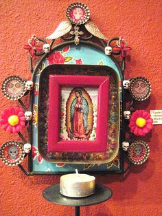 Christine Offutt - Candle Shrine by Mrs Marissa Lynn, via Flickr