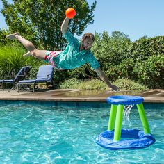 The 360 Tomahawk Trunks - Prepare for utter domination in your next game of poolsketball. Note: jumping entirely out of the pool for a fresh rim-rocking slamma jamma is 100% legal.