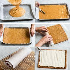 Fall Dessert Recipes, Fall Desserts, Delicious Desserts, Cream Cheese Rolls, Cream Cheese Filling, Cake Roll Recipes, Best Pumpkin, Pumpkin Dessert, Rolls Recipe
