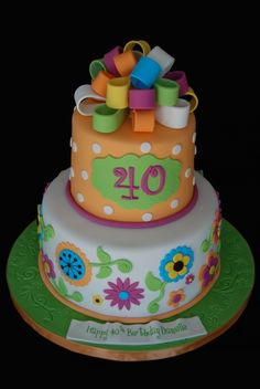 Like this Birthday cake design 40th Cake, 40th Birthday Cakes, Forty Birthday, Birthday Balloons, Birthday Parties, Pretty Cakes, Beautiful Cakes, Amazing Cakes, Birthday Cake Ideas For Adults Women