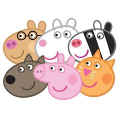 Peppa Pig face masks