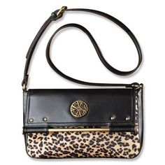 Raising the Bar Crossbody- The picture of sophistication, this leatherlike bag boasts leopard-print, faux pony exterior, goldtone hardware and an adjustable shoulder strap.  Regularly $25.00, buy Avon Fashion online at http://eseagren.avonrepresentative.com