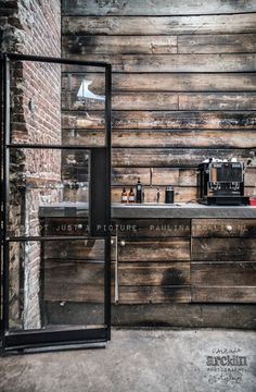 Industrial decor style is perfect for any interior. An industrial bar is always… Café Design, Store Design, House Design, Design Ideas, Restaurant Design, Cafe Restaurant, Restaurant Restaurant, Interior Architecture, Interior And Exterior