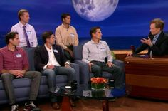 The five hunky Romney sons on Conan