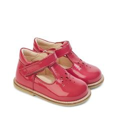 47423a56ee0 ANGULUS kids starter shoes AW14 STYLE 2376-101 Coral Patent Leather