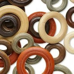 50 Wood Rings, Beads Assorted Sizes/Colors, 20mm-34mm by thespiritbear on Etsy https://www.etsy.com/listing/56353784/50-wood-rings-beads-assorted-sizescolors